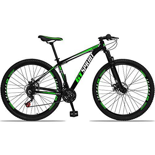 Bicicleta Aro 29 Gt Sprint Mx1 Alumínio 21v Freio A Disco Verde 17''