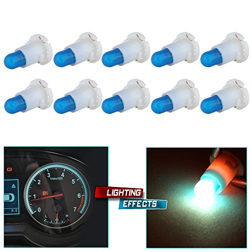 cciyu 6 Pack Warm White T4//T4.2 Neo Wedge Halogen A//C Climate Control Bulb Replacement fit for A//C Climate Control Light black