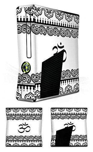 DeinDesign Skin kompatibel mit Microsoft Xbox 360 Slim Folie Sticker Mandala Henna Yoga