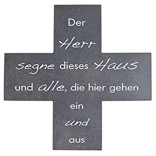 MaMeMi Haussegen-Schiefer Der Herr segne 15x15 cm