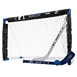 Franklin Sports NHL Equipo Autorizado Knee Hockey – Juego de 2 Mini Hockey Sticks y una Pelota de Espuma Mini Hockey, Unisex, Tampa Bay Lightning