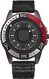GPWDSN Orologio da uomo cronografo nero ultra-sottile design fresco con sfera in acciaio inox puntatore magnete quarzo orologio - Nylon nero
