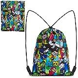 Teen Titans GO! Turnbeutel Kinder, Beutel Rucksack, Teenager Gym Bag, Kordelzug Tasche für Schule Reisen, Schwimmbeutel mit Cartoon Aufdruck, Kleine Geschenke für Kinder und Jugend