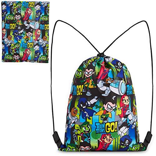 Teen Titans Go Mochila Cuerdas, Mochila Saco de Los Jovenes Titanes, Bolsa Deporte Para Niños, Mochila InfantiL, Regalos Niños Niñas Adolescentes