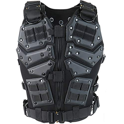 Actionunion Tactical Vest Airsoft Vest - Paintball Vest Military Vest Combat Vest Molle Vest Adjustable Tactical Vest for Women Men Outdoor Shooting