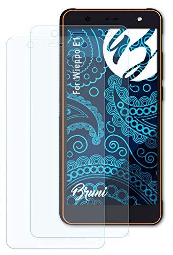 Bruni Schutzfolie kompatibel mit Wieppo E1 Folie, glasklare Bildschirmschutzfolie (2X)