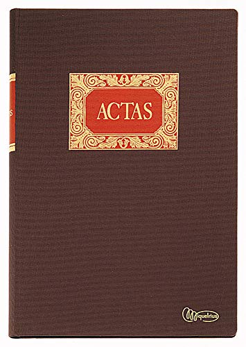 Miquelrius - Libro de Contabilidad, Folio Natural, Actas, 100 Hojas, Forrado en Tela y en gomado