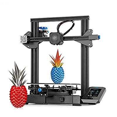 Creality Ender 3 V2 Upgraded DIY 3D Printer Kit 220x220x250mm Print Size Ultra-silent Mainboard, Carborundum Glass Platform, Integrated Compact Size, Mean Well Power Supply