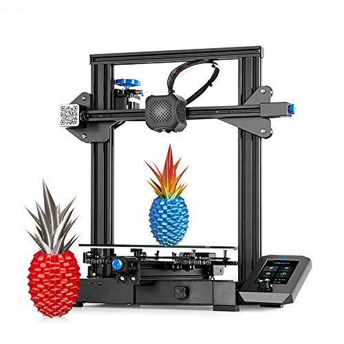 Creality Ender 3 V2, 3D Printer DIY Kit, Upgraded Version of Ender 3 Pro: 32-bit Silent Motherboard, Carborundum Glass Bed, Resume Printing, Build Volume 220 x 220 x 250mm, Ideal for Beginners