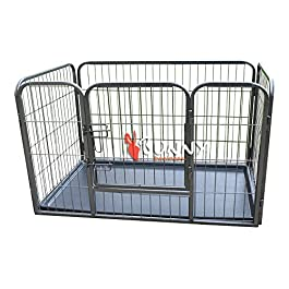 BUNNY BUSINESS Heavy Duty Puppy Play Pen/Rabbit Enclosure with Plastic Floor