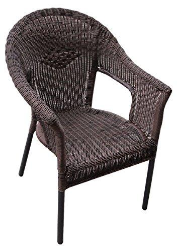 Cadeira Poltrona Alumínio Em Rattan Para Jardim Atacama Mor