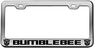 Bumblebee Chrome License Plate Frame Tag Black