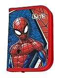 Federmappe mit Namen | inkl. NAMENSDRUCK | Motiv Spiderman | Personalisieren & Bedrucken | Federmäppchen Schüleretui Federtasche 30-teiliges Set MARKENSTIFTE
