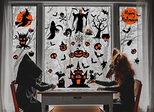 heekpek 60 PCS Halloween Decorazioni per Feste di Halloween Happy Halloween Banner Palloncino di Zucca Decorazione per Le Feste di Halloween
