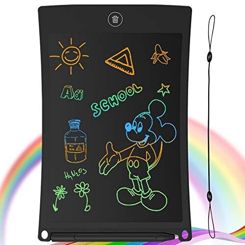 GUYUCOM Tableta de Escritura LCD, Tablero de Dibujo electrónico de 8.5 Pulgadas - Tablero de Grafiti de con Bloqueo de Pantalla borrable para Pinturas niños y Juguete Educativo (Negro)