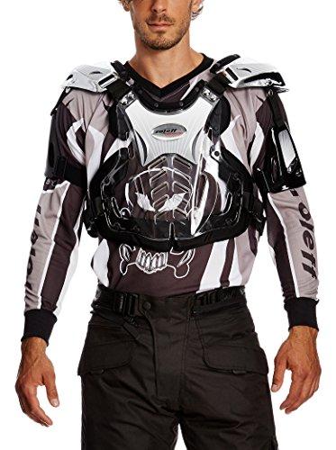 Roleff Racewear Peto Motocross, Plateado Brillante, L