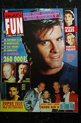 MAXI FUN 7 1990 PATRICIA KASS VANESSA PARADIS ALICE COOPER PHIL COLLINS WET WET WET + POSTERS BON JOVI RICHARD MARX