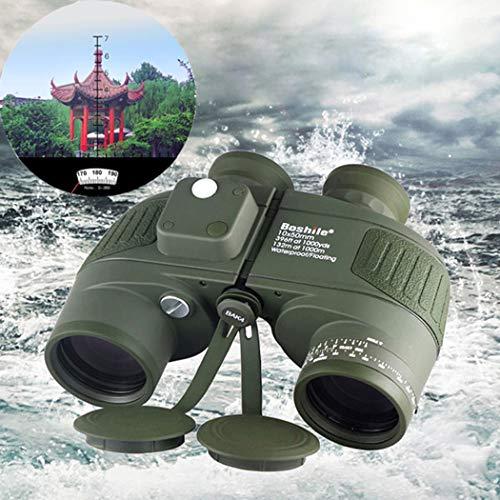 Hao Jumelles de Navigation 10X50 Professionall étanche à l'eau HD Télescope intégré Télémètre intégré