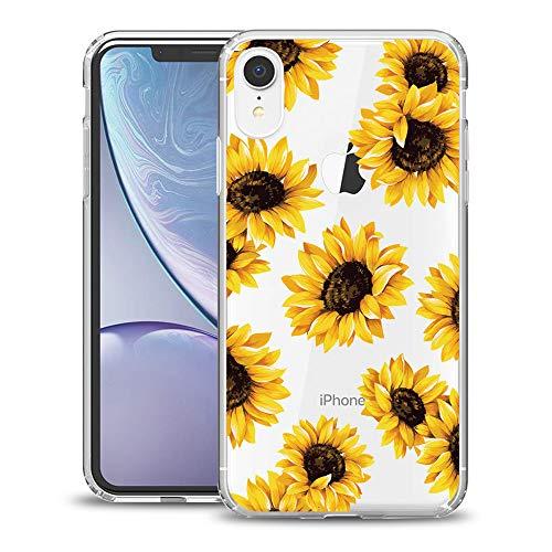 Murmaz Floral Series , Blumendesign, tropisches Design, für Mädchen und Frauen, harte Rückseite aus Polycarbonat und weicher Stoßstange, schlanke, stoßfeste transparente , Sun XR