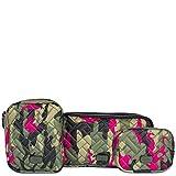 Lug Women's Round Trip 3-Piece Zip Pouch Travel Set, Camo Orchid, One Size