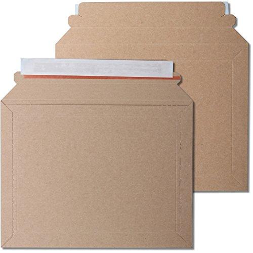 kraftmax 100 x Premium Verpackung/Versandtaschen - Frustfreie Versandtasche aus Pappkarton - DIN A5-23,5 x 18 cm