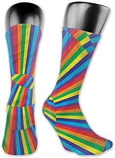 Pattern Socks,Socks Spires Rainbow Colored Circles