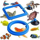 Molain Anillo de alimentación de peces, 2 piezas alimentador de peces acuario peces tortuga tanque accesorios alimentador círculo para Guppy, Bettas, pez dorado, tortuga