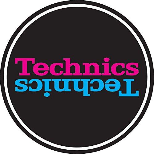 Technics tappetino antiscivolo in feltro, nero rosa e blu