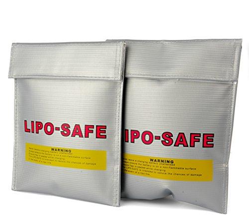 Lipolix Lipo Safe Bag Akku Tasche feuerfest Lipo Guard Liposack Safebag passend für DJI Phantom Mavic Spark und Weitere | Qualität vom Deutschen Händler