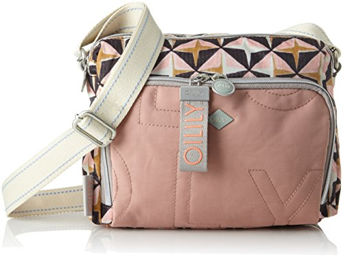 Oilily Damen Charm Geometrical Shoulderbag Shz Schultertasche, Pink (Rose), 12x18x24 cm
