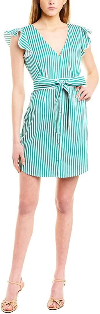 BB DAKOTA Women's Peppermint Yarn Dyed Cotton Shirt Dress