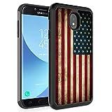 Funda Protectora de Doble Capa de plástico TPU para Samsung Galaxy J7 2018/J7 Refine/J7 Star/J7 Top/J7 Aero/J7 EON, Rossy Hybrid para Samsung Galaxy J7 2018, Bandera Estadounidense