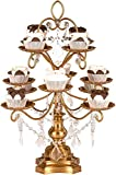 Amalfi Decor Dessert Cupcake Stand, Display Pedestal with Crystals, Gold, 12 Piece
