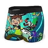 Jiaba Ben-10 Men's Boxer Briefs Underwear for Men Boys Stretch...