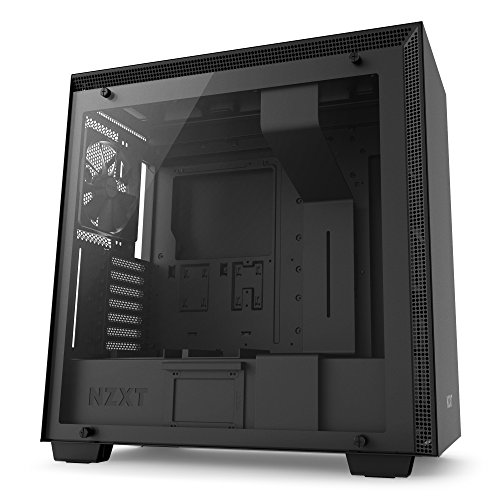 NZXT H700 - ATX-Mid-Tower-Gehäuse für Gaming-PCs - Hartglasfenster - Bereit für Wasserkühlungen - Schwarz - 2018 Version