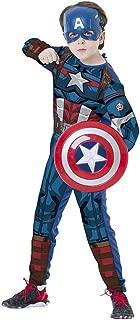 Regina 109014.3, Fantasia Avengers Capitão América Escudo Clássico Longa, Multicor