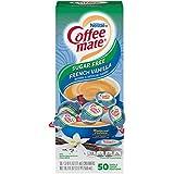 Nestle Coffee mate Coffee Creamer, Sugar Free French Vanilla, Liquid Creamer Singles, Box of 50 Singles