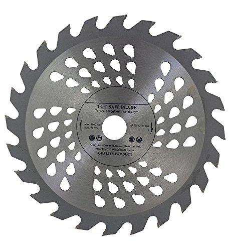 Hoja de sierra circular de alta calidad (sierra de habilidad) de 180 mm x 20 mm para discos de corte de madera circulares de 180 mm x 20 mm x 24 dientes