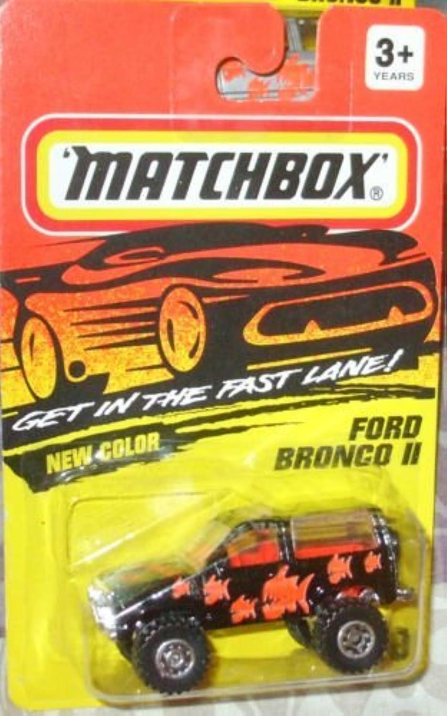 Matchbox schwarz with Orange Ford Bronco 2 39 1994