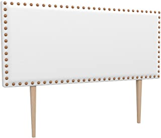LA WEB DEL COLCHON - Cabecero tapizado Tachuelas Big para Cama de 135 (145 x 115 cms) Blanco | Cama Juvenil | Cama Matrimonio | Cabezal Cama |