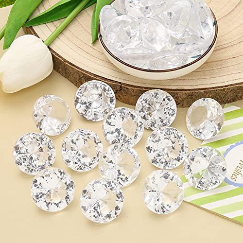 DAHI Deko Diamanten 30mm Hochzeit Streudeko Transparent Kristall 30 STK Dekosteine Tischdeko Diamanten (weiß, 30x20mm)
