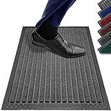Fußmatten in Allen Farben und Größen [rutschfest, waschbar & schmal] optimale Größe für die Haustür. Fußmatte innen & Fußmatte außen. Fußmatte 40x60 Schmutzfangmatte 40x60 Fussmatte innen grau PazCaz