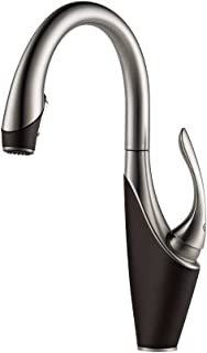 Brizo 63055LF-SSCO Vuelo Pullout Spray Single Handle Kitchen Faucet, Stainless Steel/Cocoa Bronze