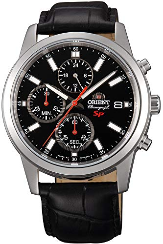 Orient Herren Chronograph Quarz Uhr mit Leder Armband FKU00004B0