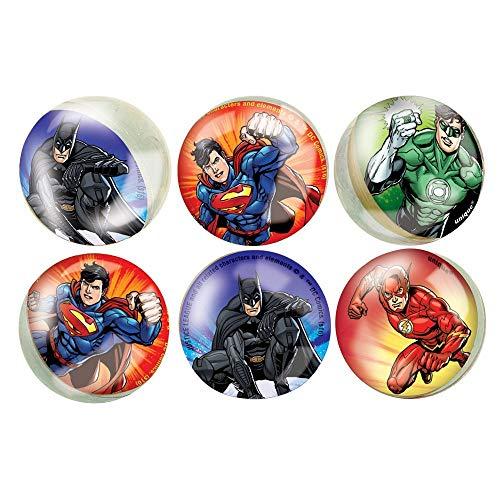 Unique 49978 - Pelotas saltarinas Justice League (paquete de 6) 🔥