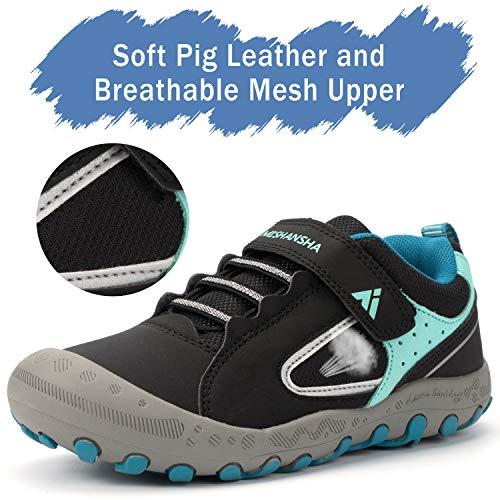 Calzado Casuales para Niños Niñas Clásico Ligeras Transpirable Zapatillas Senderismo Adolescente Cómodas Low-Top Estable Zapatos para Correr, Azul Negro 38