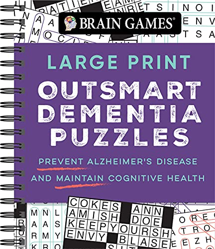 Brain Games - Large Print Outsmart Dementia Puzzles: Prevent Alzheimer's Disease and Maintain Cognitive Health