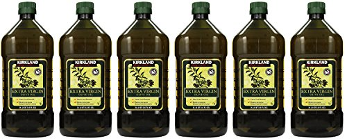 Kirkland Signature, Extra HHBkf Virgin Olive Oil 2 Liters (Pack of 6)