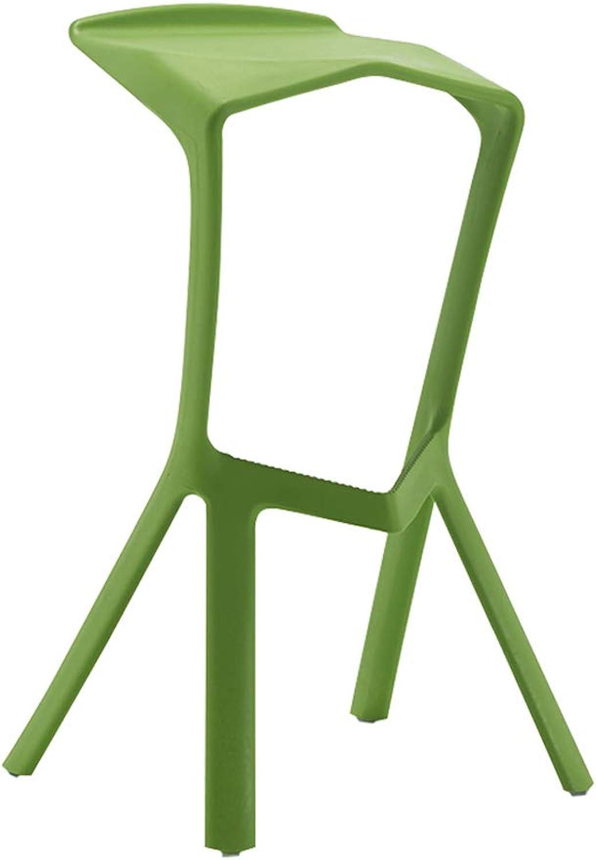 HLJ Casual Fashion High Leg Chair Simple Bar Chair Creative Front Desk High Leg Stool Modern Bar Chair