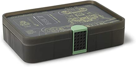 LEGO Batman Sorting Box, Storage Case/Container with Compartments, Lego Ninjago Movie, Sand Green, 26.7 x 17.8 x 6.6 cm